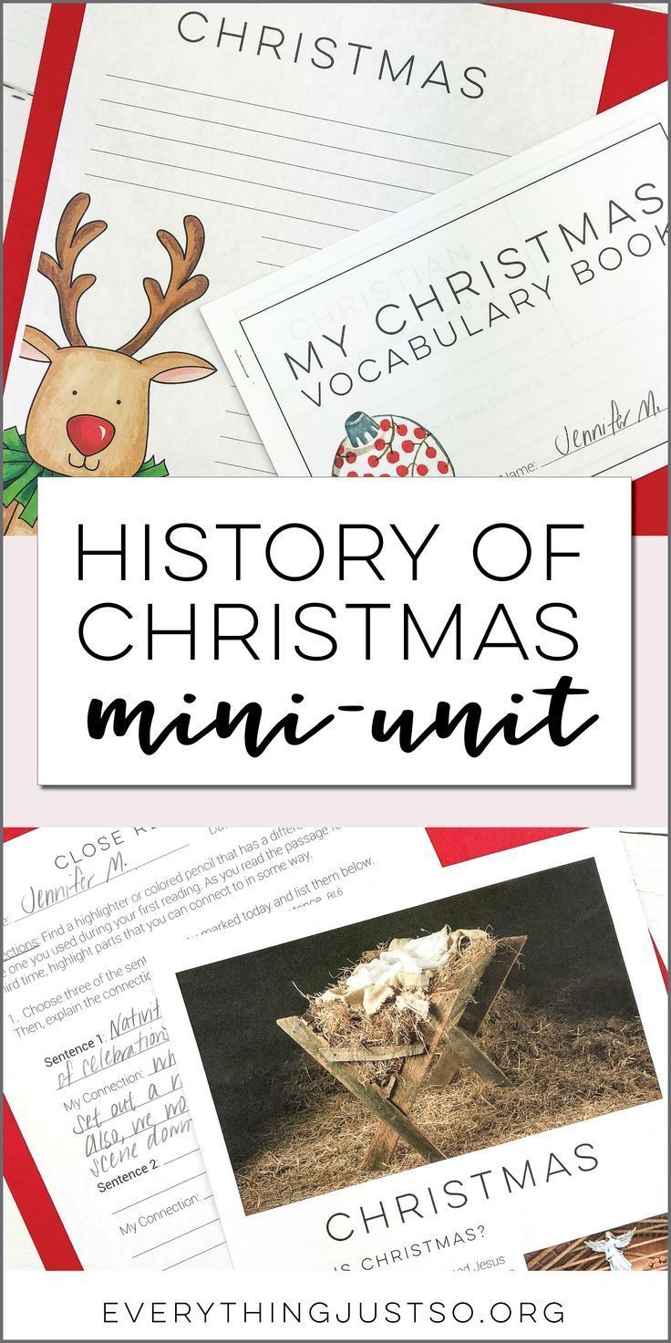 Christmas Mini-Unit | Provide students with a short overview of Christmas including the history behind the holiday and how it is celebrated. Original Christmas informational passages, structured close reading practices, Christmas writing response activities, vocabulary booklet, and more. Designed to be little to no-prep for you, last at least three days in the classroom, and works extremely well as an emergency sub plan resource. | everythingjustso.org #emergencysubplans Christmas Mini-Unit | Pr #emergencysubplans