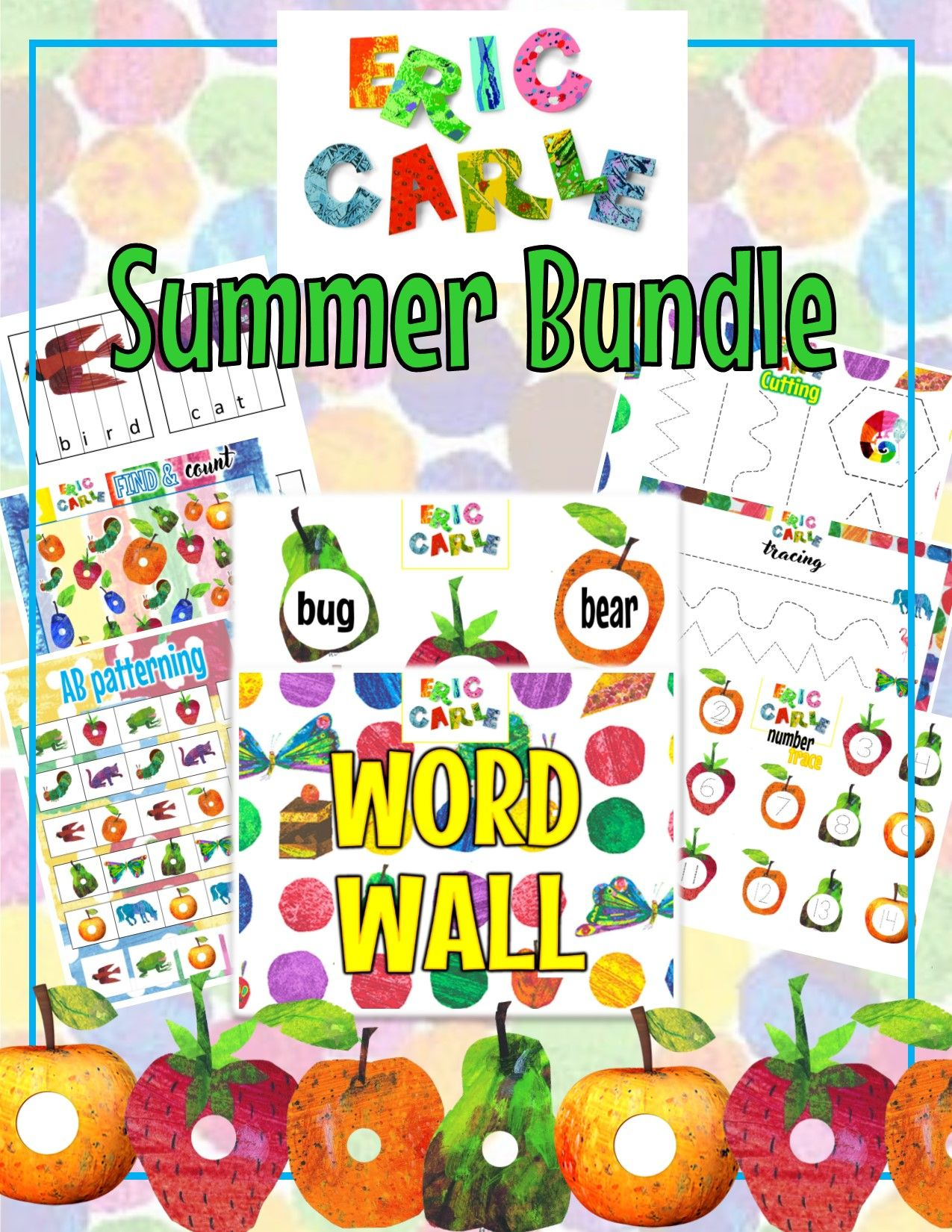 A Week Of Eric Carle Themed Curriculum