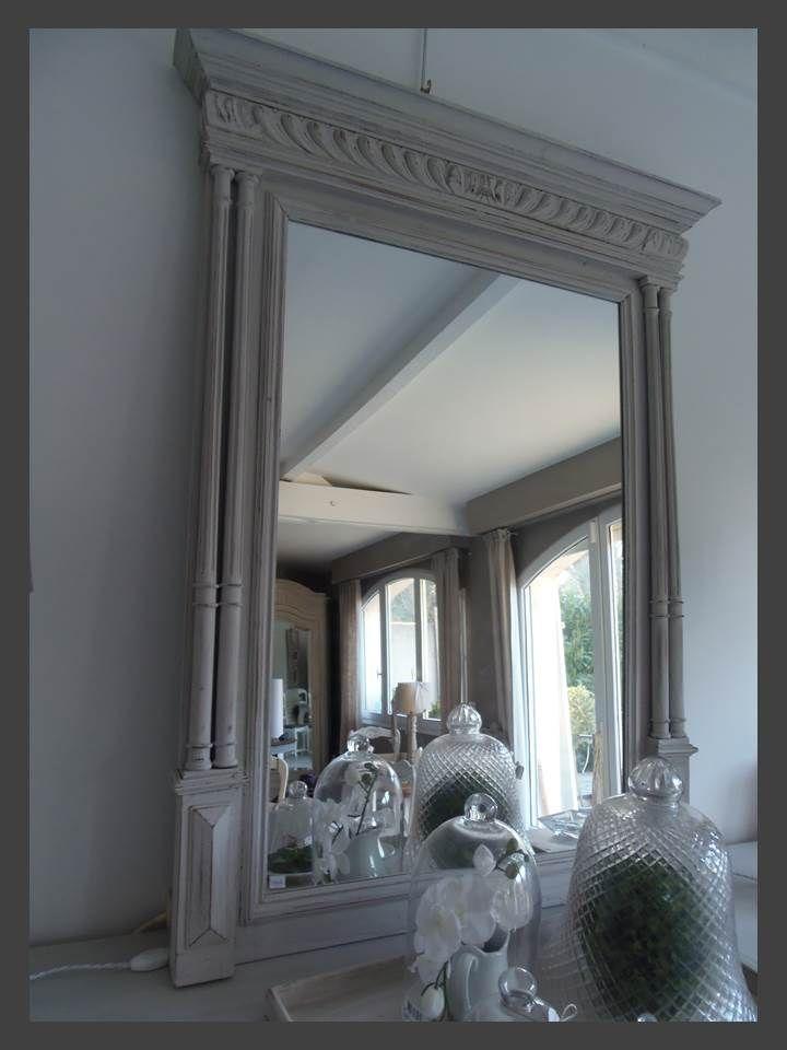 Miroir maison de famille ch ne patin perle meubles vintage - Maison de famille meubles ...