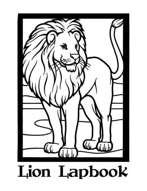 Lions Unit Study Lessons And Lapbook Printables Free Lion Coloring Pages Animal Coloring Pages Lion Pictures