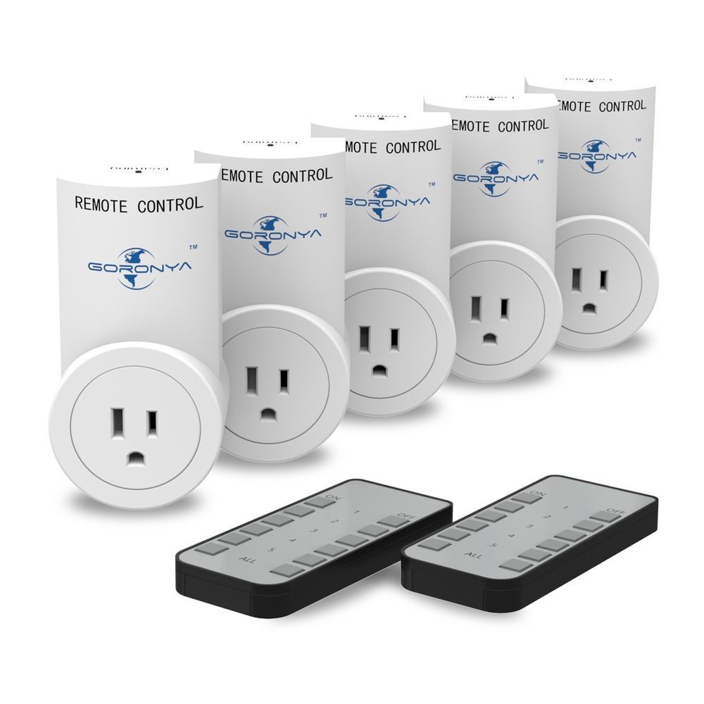 Electrical Plug Outlet Socket 5 Pack Wireless Remote Control ...