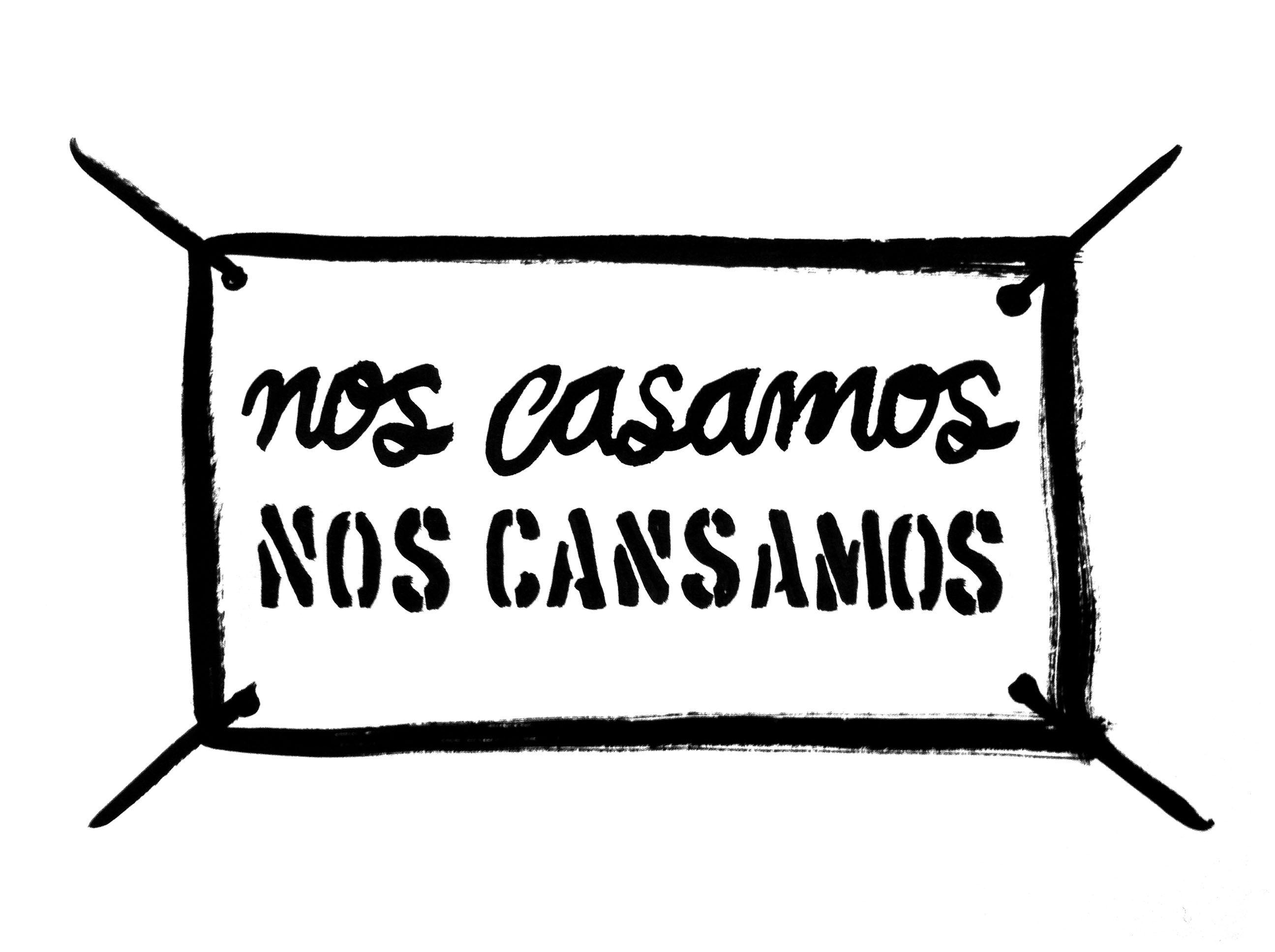 Sábanas colgadas en los puentes que llaman al matrimonio o a la revolución. Manuel Rodríguez-Moranta #illustration