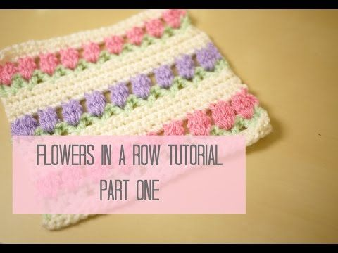 Crochet Tulip Stitch Free Pattern Video Crochetembroiderycross