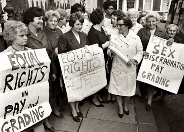 Ford Dagenham Sewing Machine Operators Protesting For Equal Pay