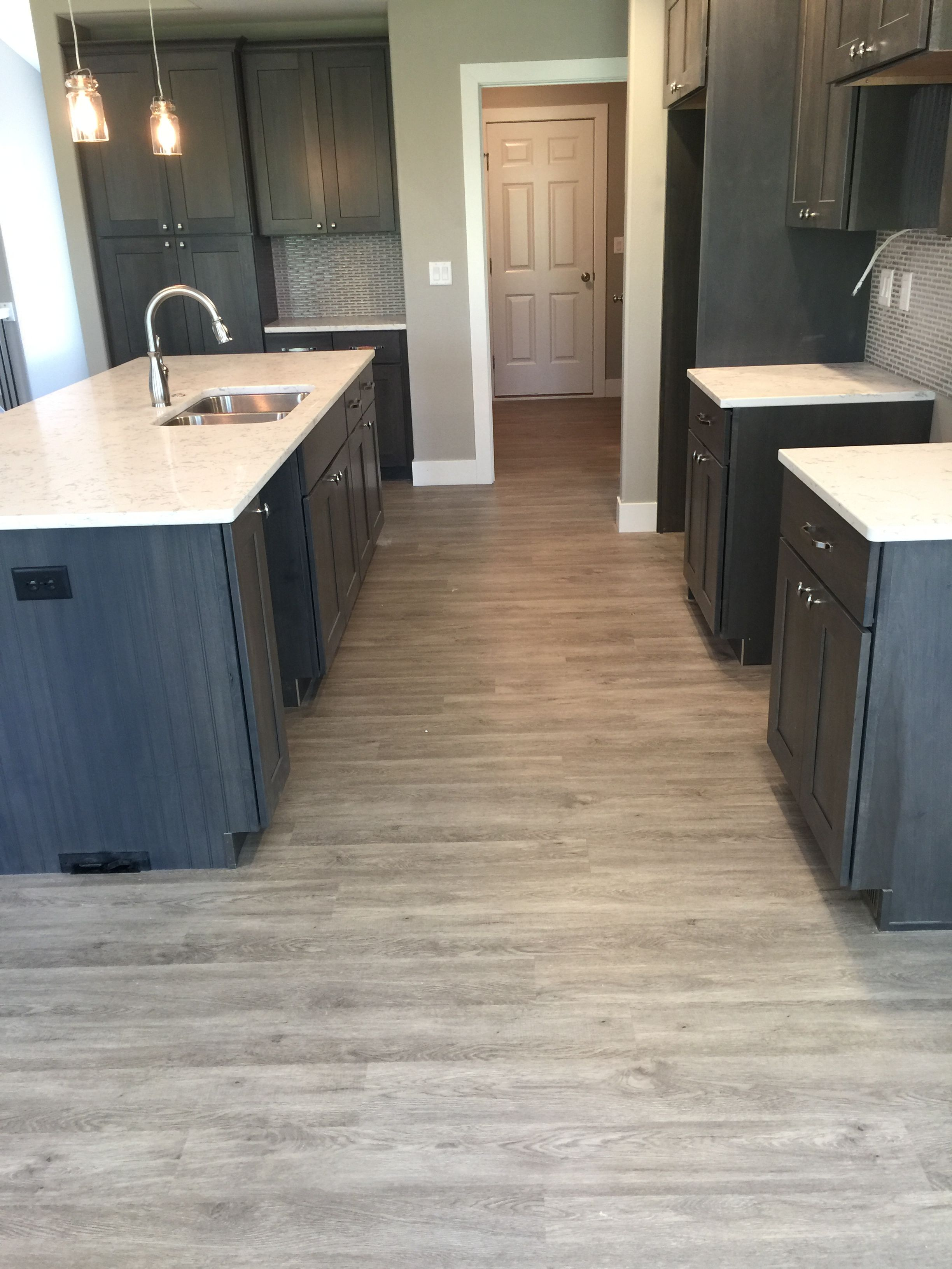 Kitchen Flooring In Coretec Plymouth Oak Design By