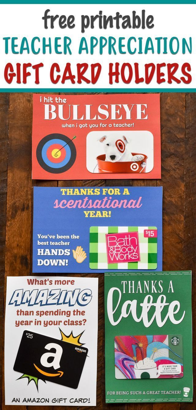 Photo of Teacher Appreciation FREE Printable Gift Card Holders