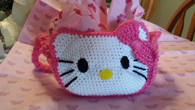 Ravelry Hello Kitty Purse Pattern By Belle Tracy Baby And Child