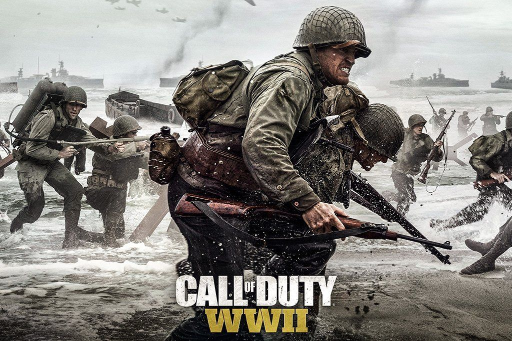 Call Of Duty Wwii Game Poster Call Of Duty World Call Of Duty