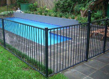 Pool Fence dark metal pool fence | brighton house & pavilion | pinterest
