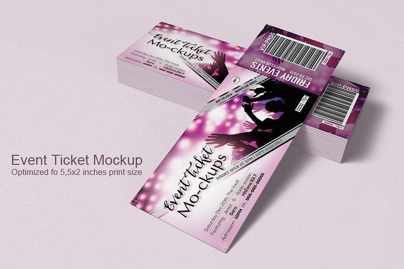 Event Tickets Mock Up Gambar Lucu Gambar