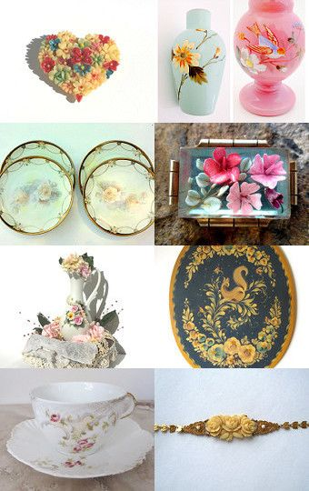 say it with vintage flowers  by BoulotDodo on Etsy--Pinned with TreasuryPin.com