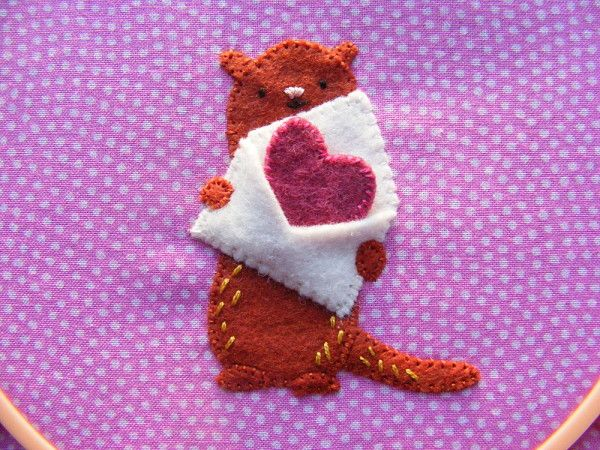 You otter be my Valentine - a free pattern