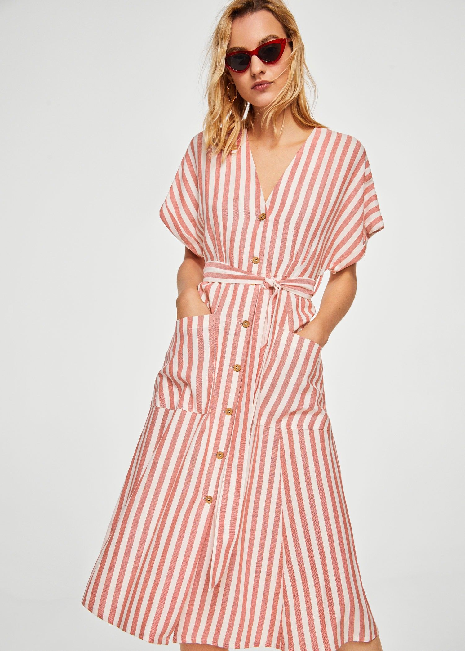 Mango Striped Midi Dress - Women  24fd0ce6a