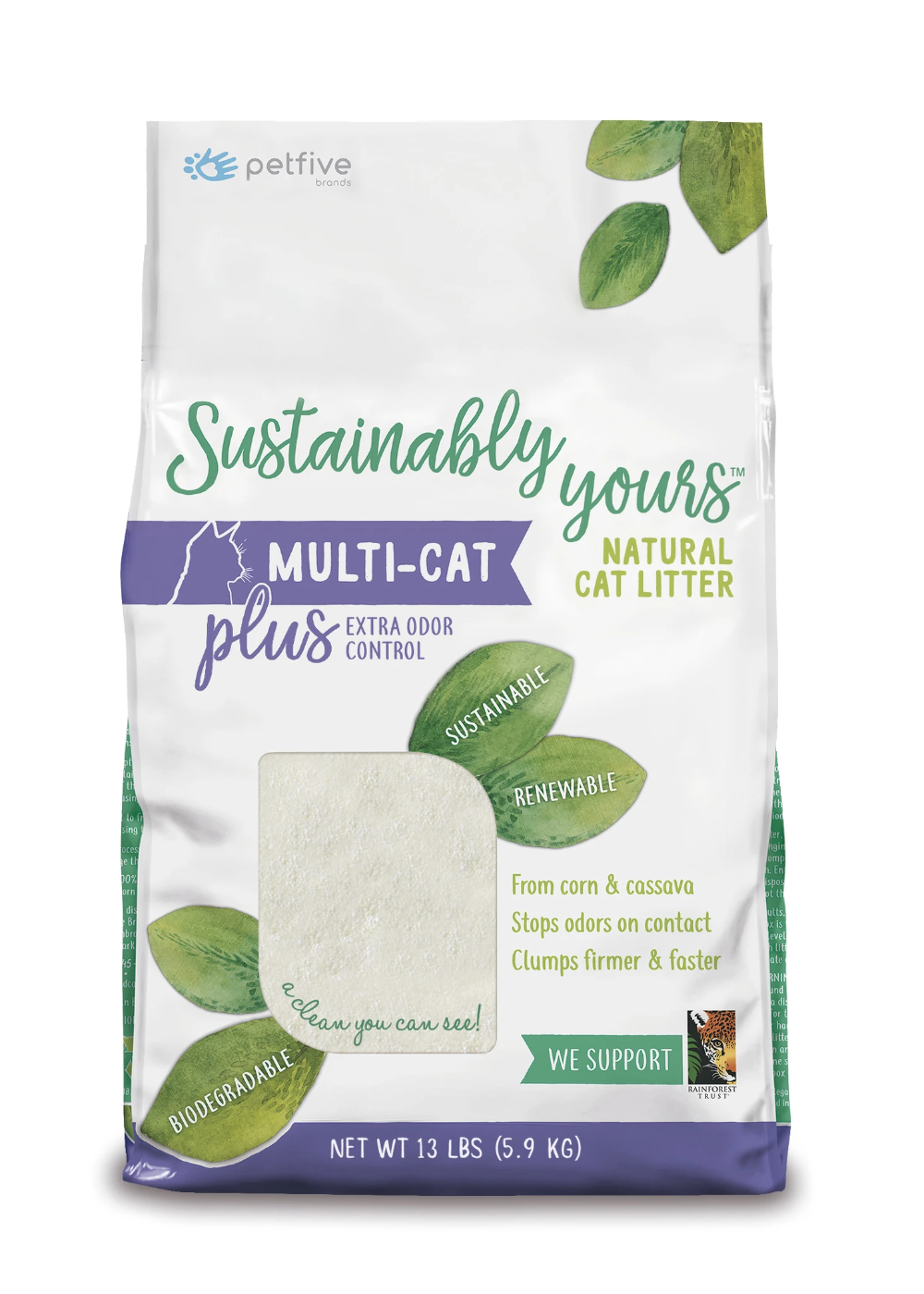 Sustainably Yours Natural Cat Litter 13 lbs in 2020