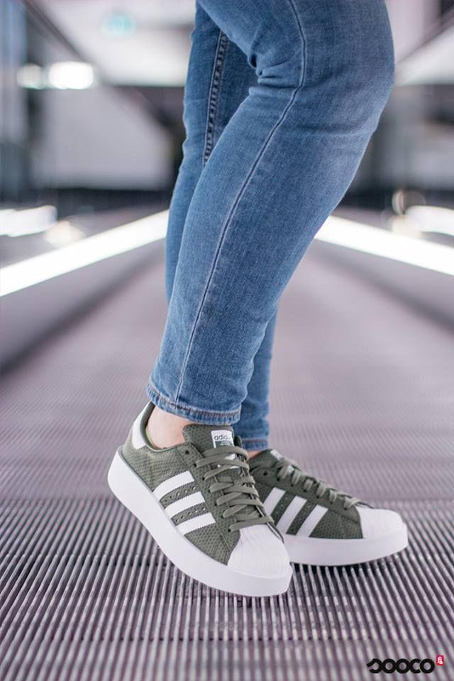 2e2ccfb902f adidas Superstar Bold W Groen in 2019 | SOOCO: goes Social - Adidas ...