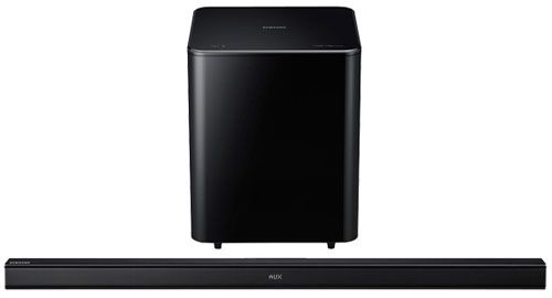 The Samsung Hw H550 Is A Sound Bar With Wireless Subwoofer Bluetooth Crystal Pro To Filter Out Distortion And Noise For Near Professional