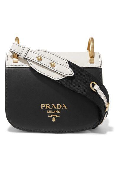 4b82dc71263c PRADA Pionnière two-tone leather shoulder bag. #prada #bags #shoulder bags # leather #