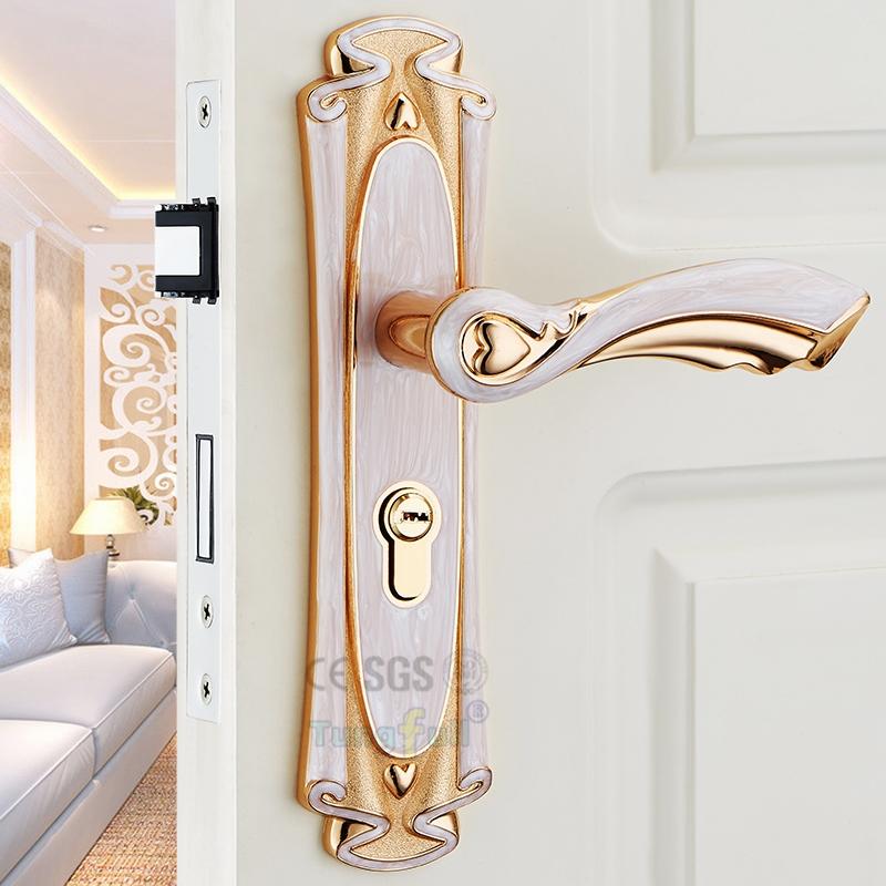 48.79$  Buy here - http://alikfl.shopchina.info/go.php?t=32629549714 - European Fashion Style Amber White Ivory Color Mute Handles Split Handle Lock  #aliexpressideas