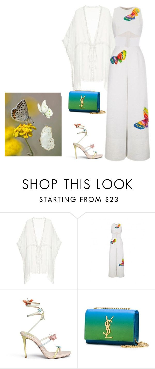 """""""outfit 4327"""" by natalyag ❤ liked on Polyvore featuring René Caovilla and Yves Saint Laurent"""