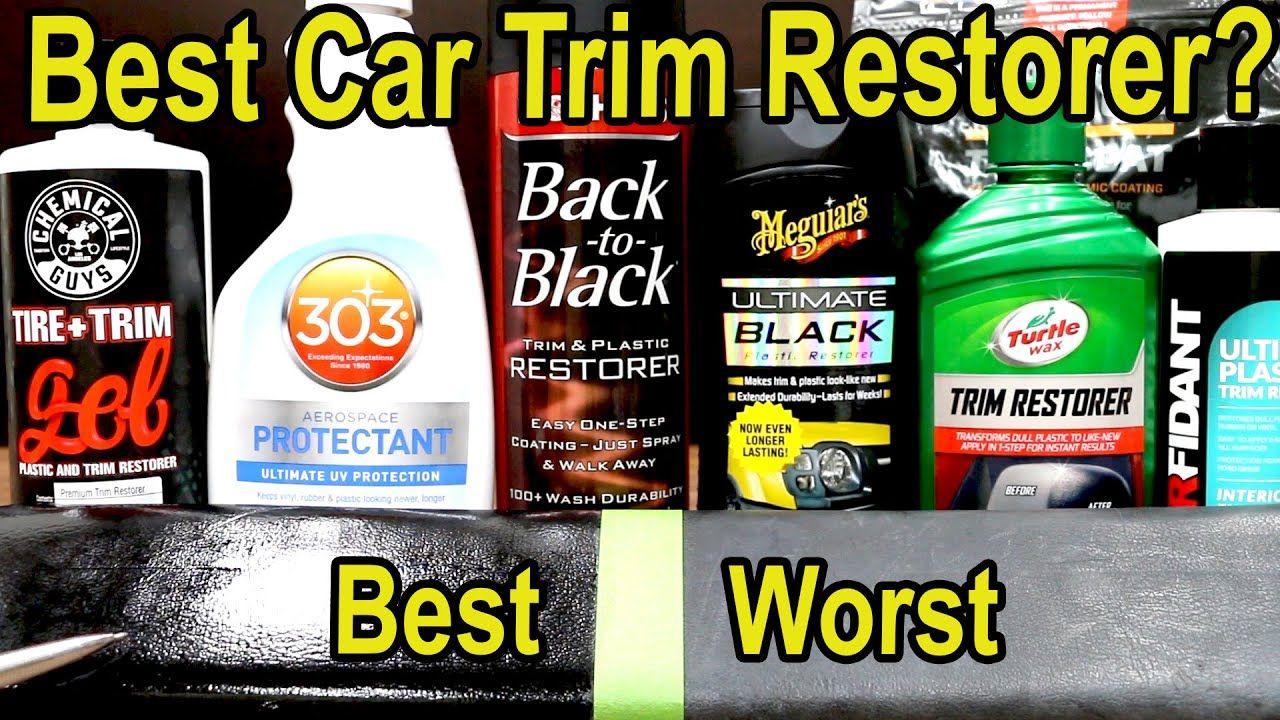 Best plastic car trim restorer mothers turtle wax