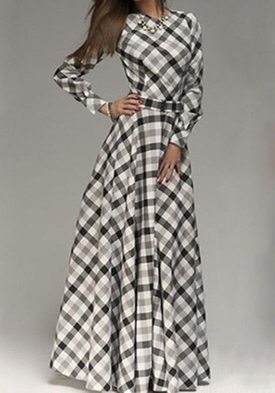 30+ Plaid maxi dress information