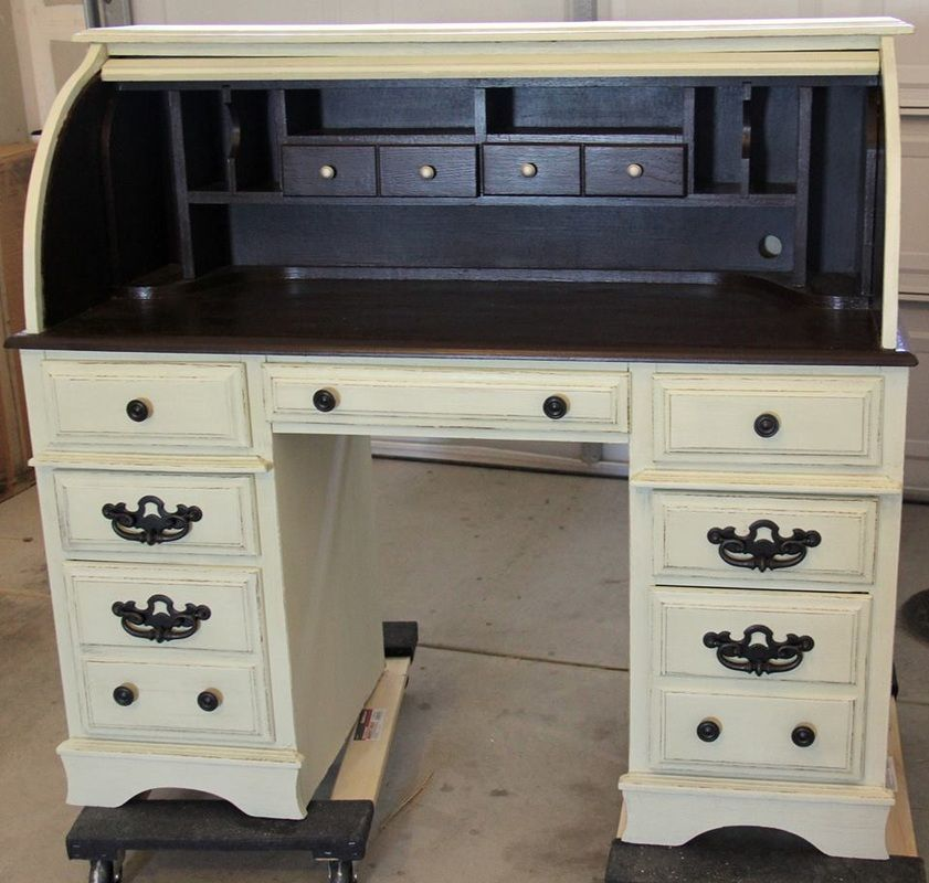 Two tone roll top desk muebles - Muebles bonitos com ...