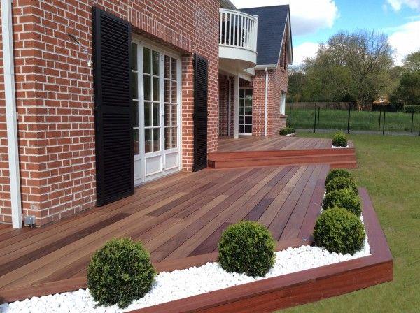 Aménagement jardin, modification terrasse, terrasse en bois ...