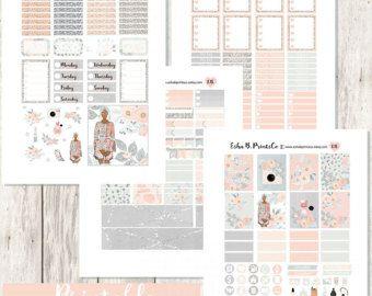 Printable Planner Weekly Kit- Erin Condren Stickers- Happy Planner Stickers -April Stickers -April Printable- Springtime weekly kit