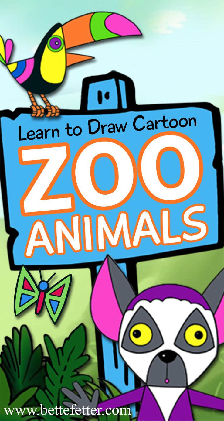 Sit back and relax while your kids spend time learning to draw funny cartoon zoo characters. A quiet activity the kids will enjoy doing!