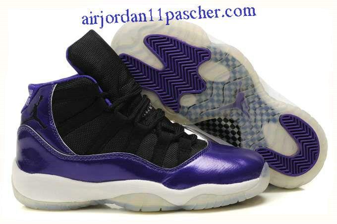 nike air max uptempo pippen - Femmes Air Jordan 11 Violet Noir Chaussures | Air Jordan 11 Femm ...