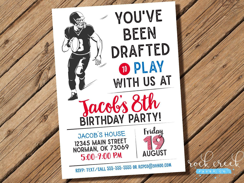 Football Invitation, Football Party, Football Birthday Party ...