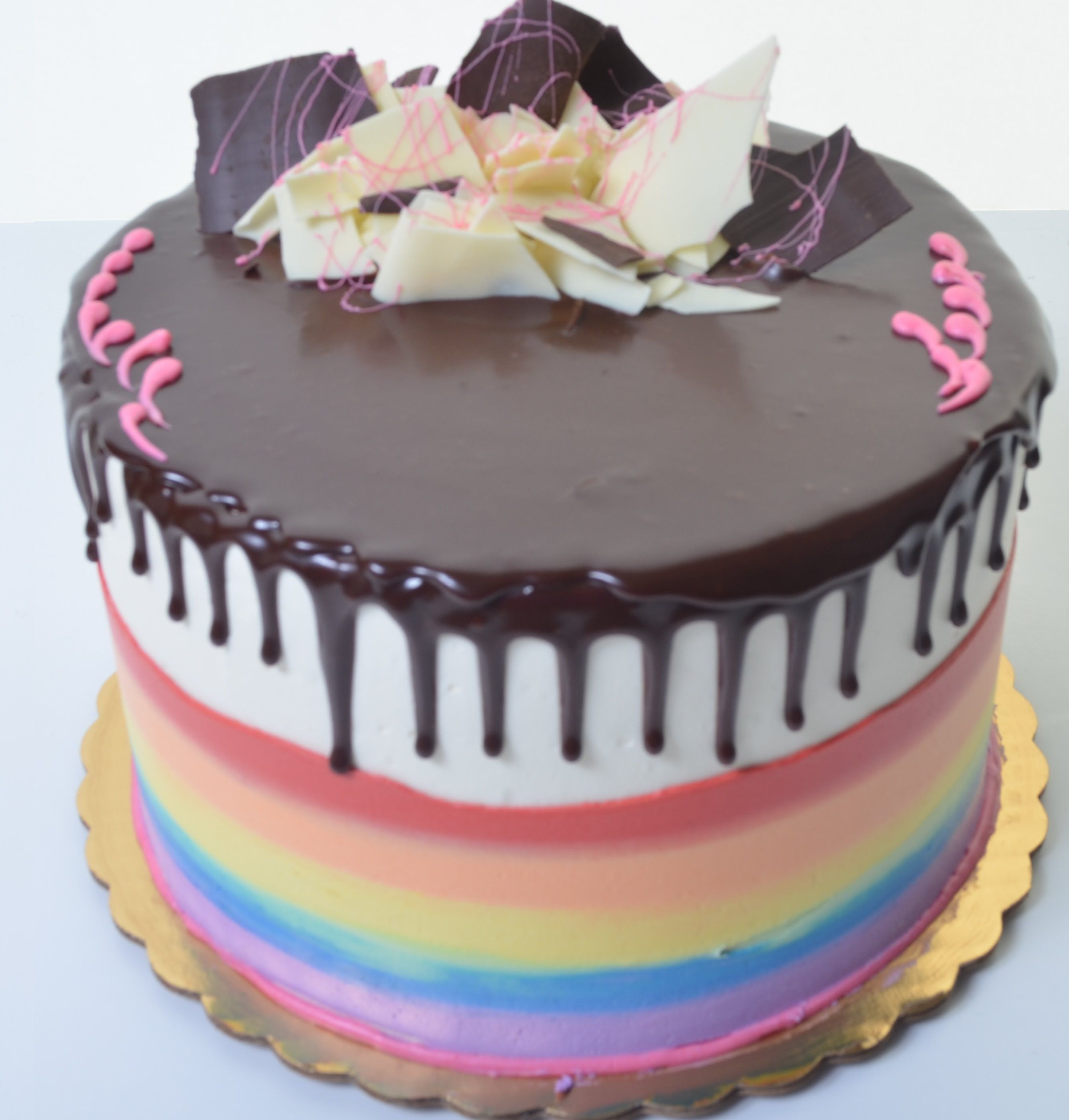 Torta con buttercream de colores y ganache de chocolate | Tortas ...