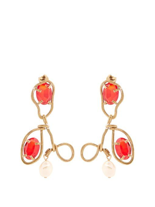 Marni Crystal-embellished resin earrings Hcq92nEy1x