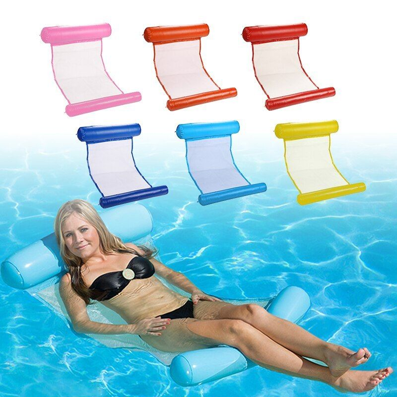 Inflatable Pool Floating Water Hammock Float Lounger ...