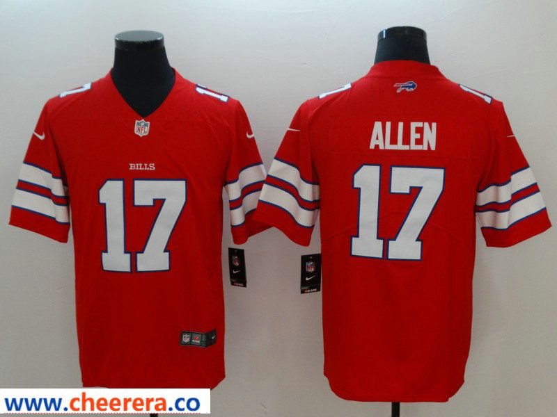 a72d32311 Nike Bills 17 Josh Allen Red Color Rush Limited Jersey