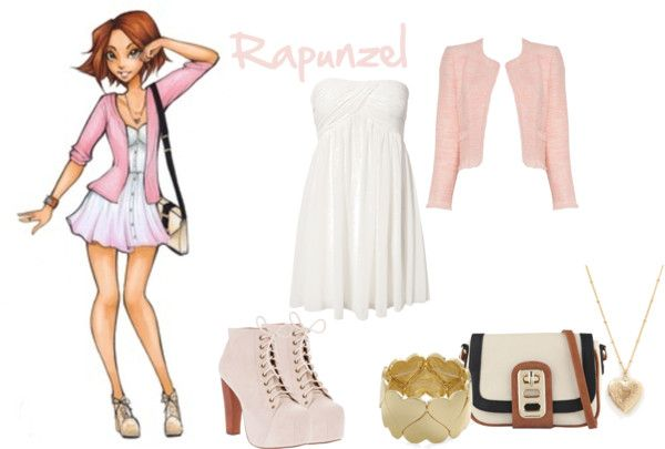 """Disney High-Rapunzel"" by summerspirit18 ❤ liked on Polyvore"