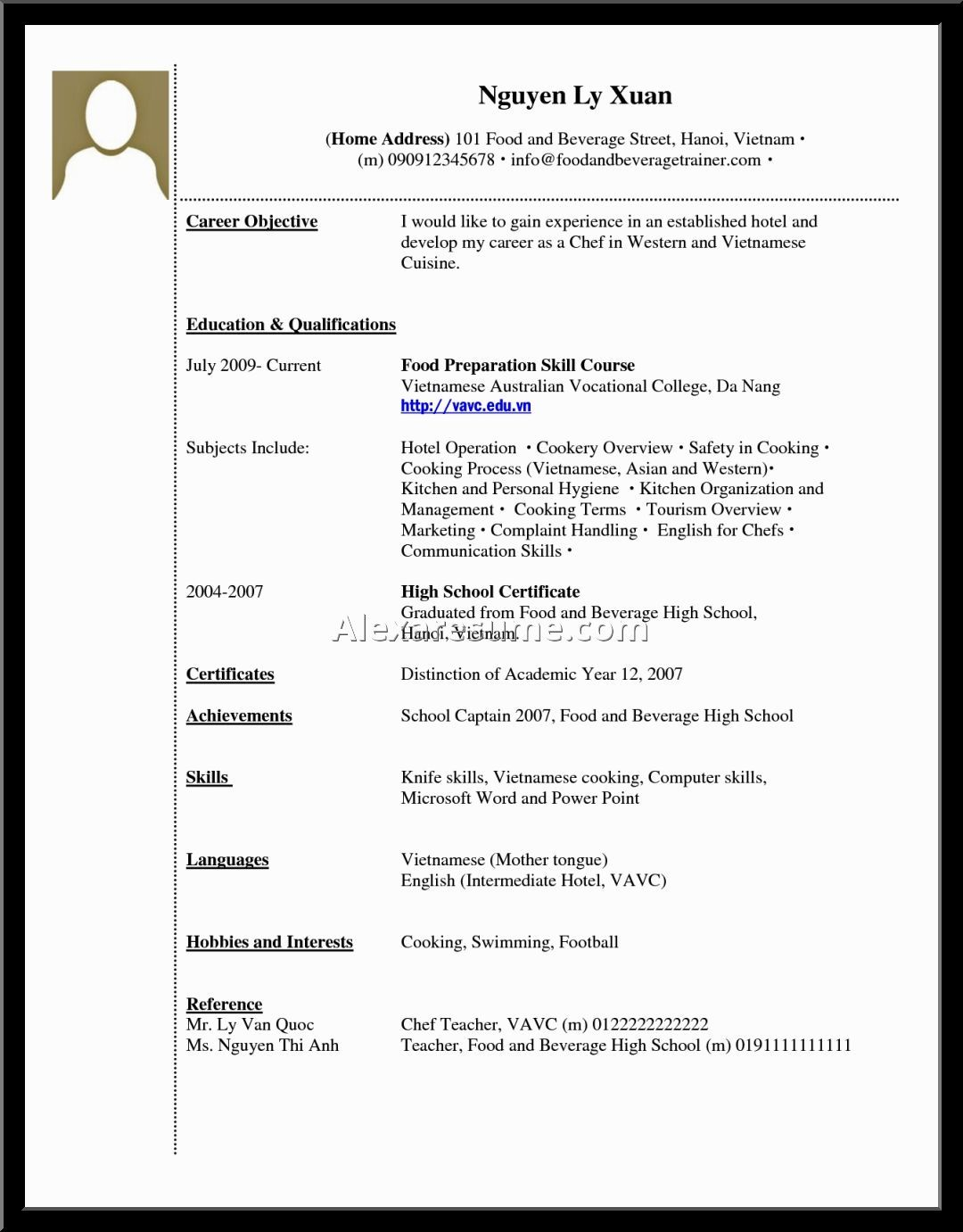 Resume Job Experience Sample Resume High School Grad Experience Cover Letter For College