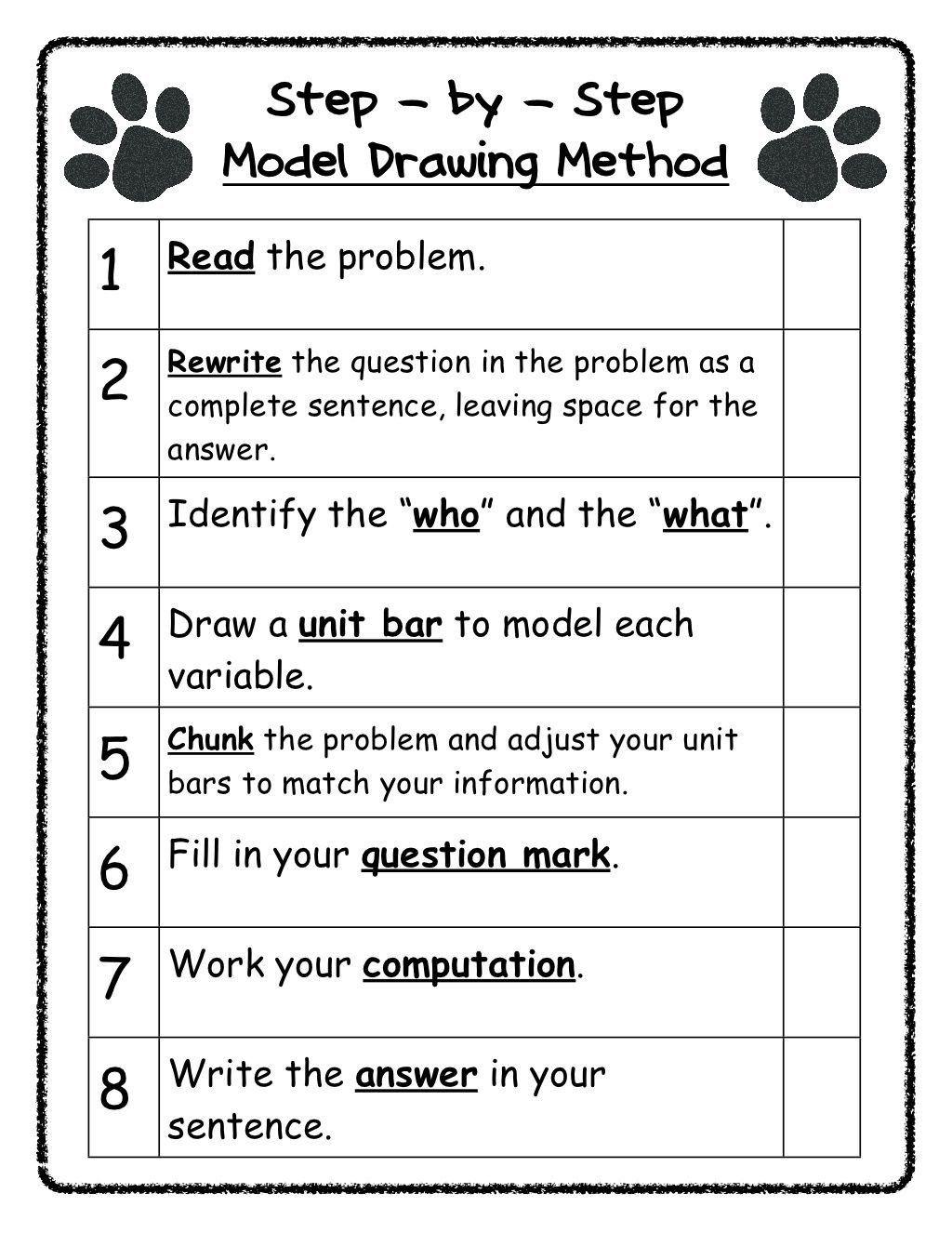 Bar Models Worksheets 2nd Grade Model Drawing Steps Singapore Math Bar Model 2nd Grade Math Worksheets