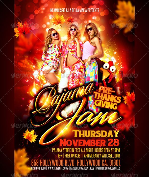 pajamas party flyer by neelesart graphicriver