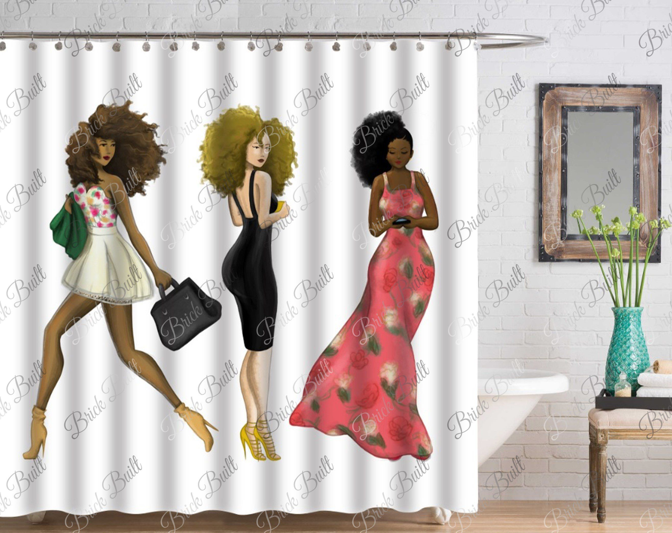 3 Ladies Shower Curtain With Images Fancy Shower Curtains