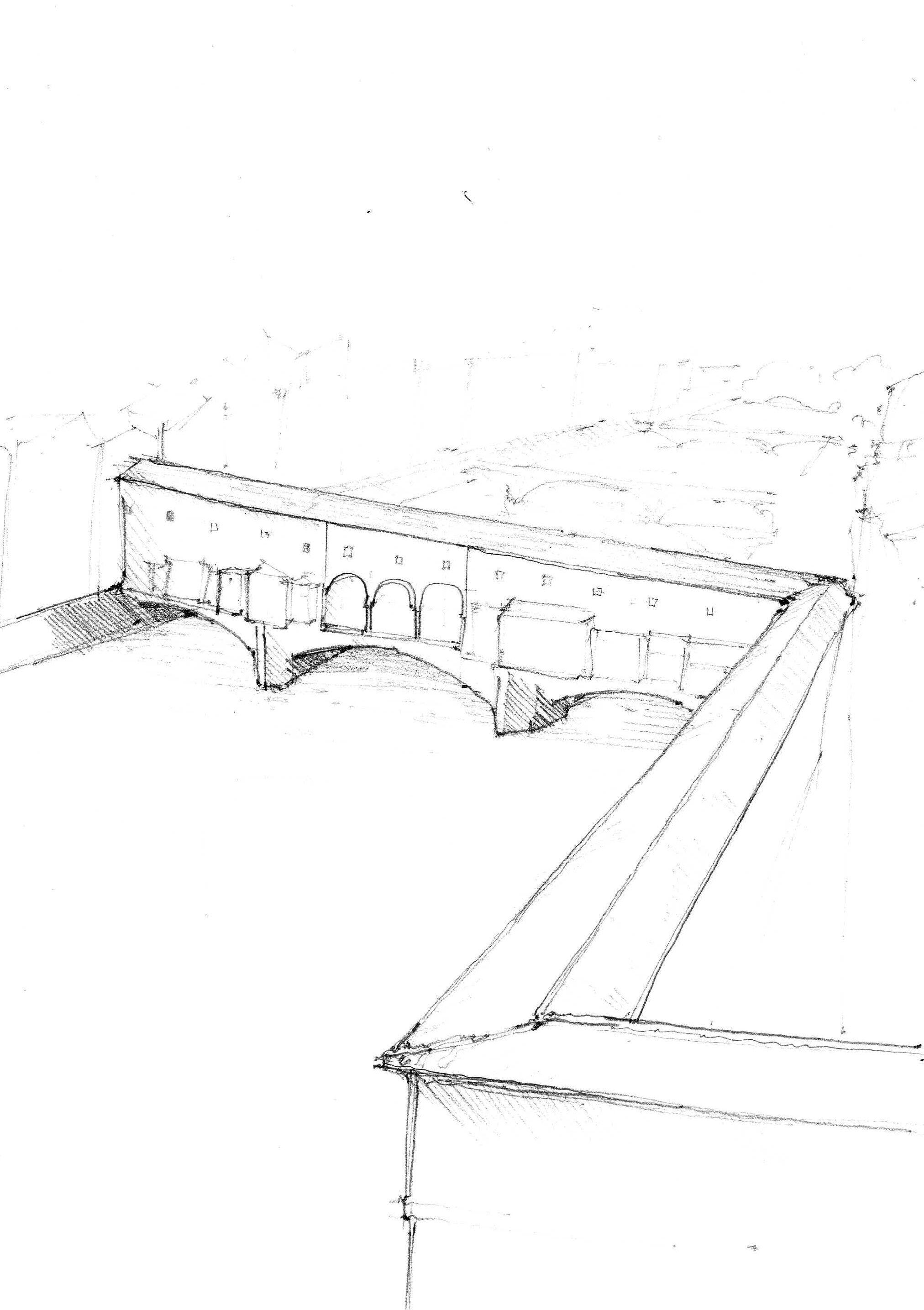 Ponte vecchio firenze italia architecture pencil sketch types of art