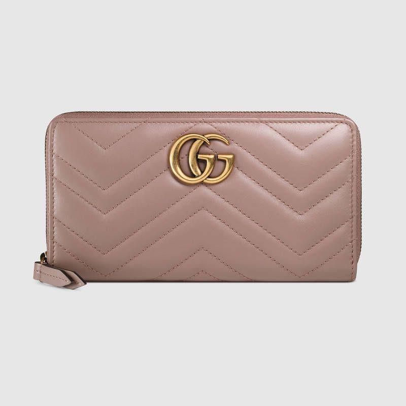 Gucci Padlock GG Supreme Continental Chain Wallet Bag