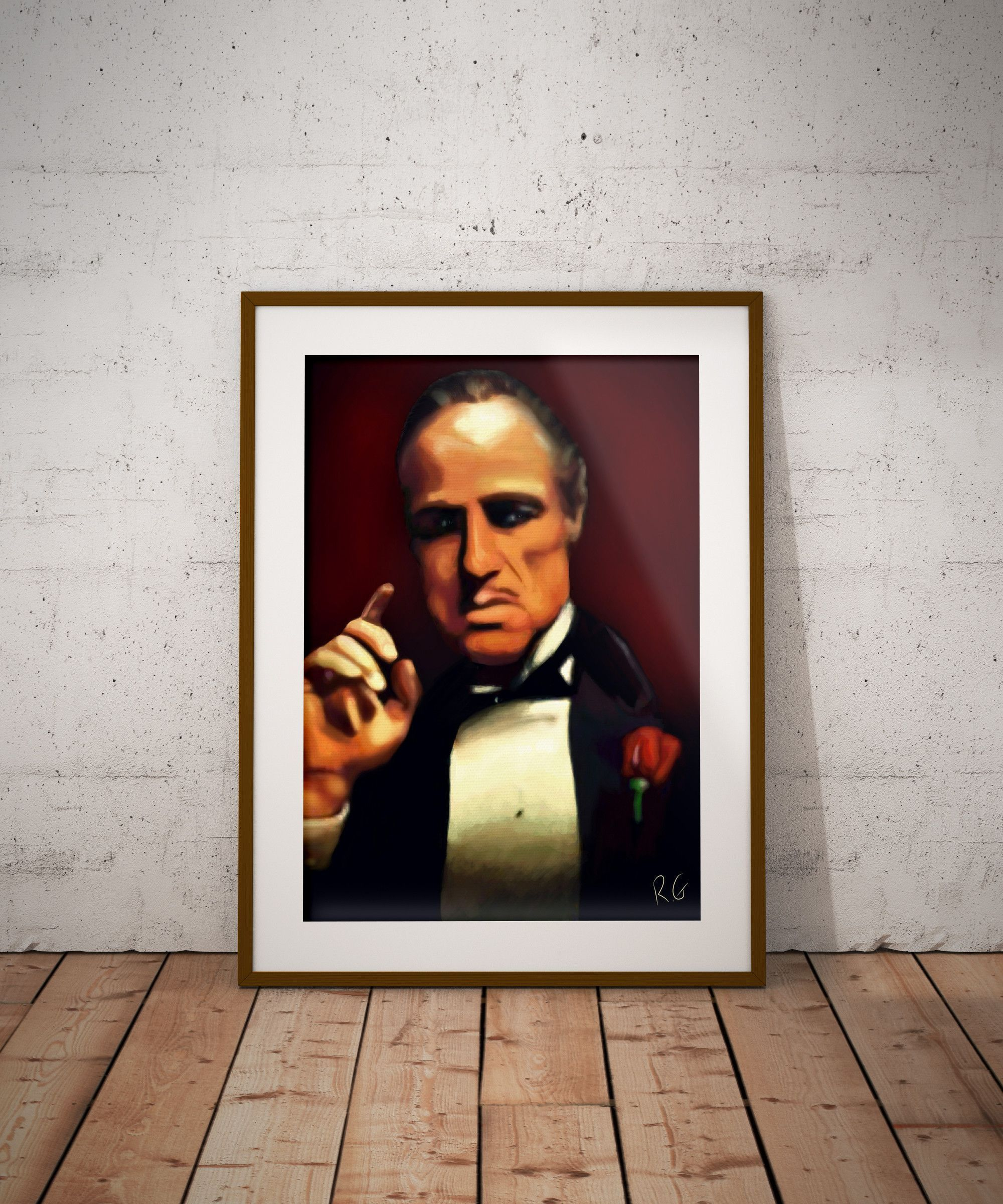 The Godfather Marlon Brando Movie Wall Art Print (With