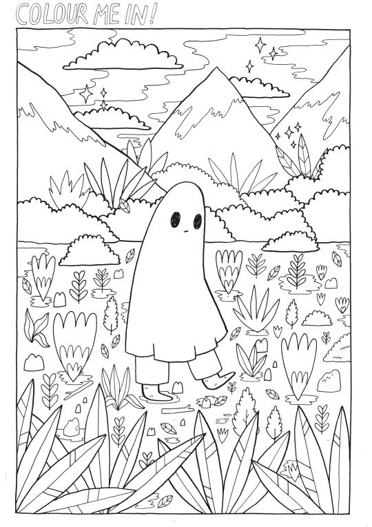 Thesadghostclub Cartoon Coloring Pages Tumblr Coloring Pages Cute Coloring Pages