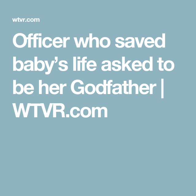 Georgia officer who saved babys life becomes her godfather