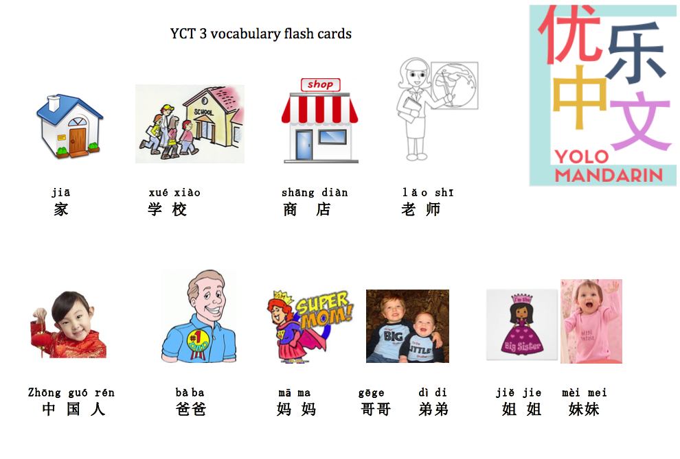 YCT 3 vocabulary flash cards [pdf free printable]by YOLO Mandarin ...