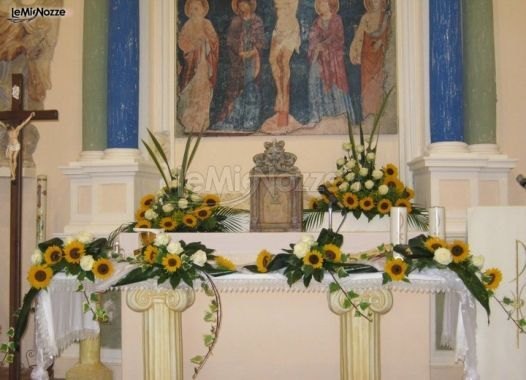 Girasoli Chiesa Per Matrimonio : Pin by lemienozze matrimonio on fiori per il matrimonio in