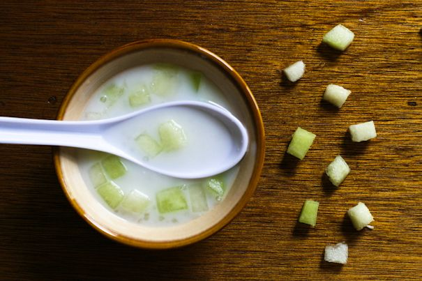 coconut tapioca dessert! my favorite when we eat dim sum... so refreshing