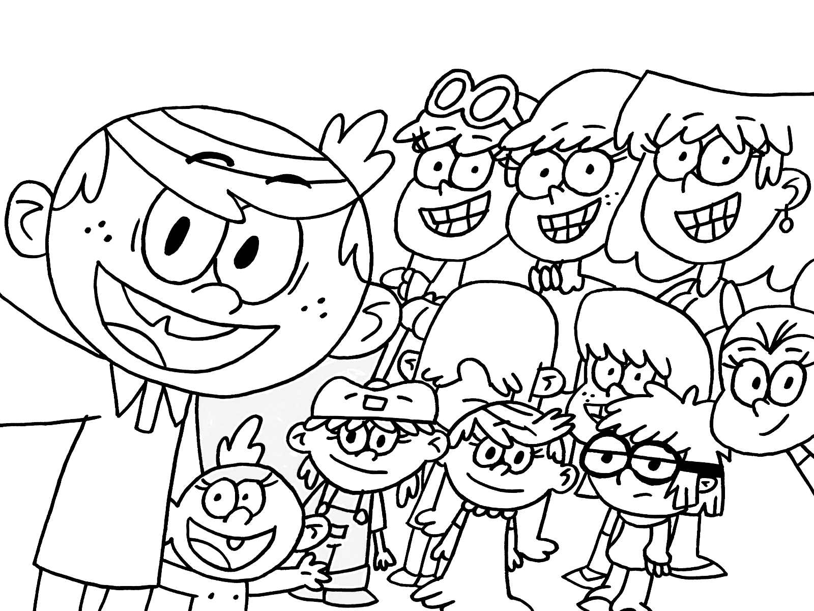 Image result for the loud house coloring pages
