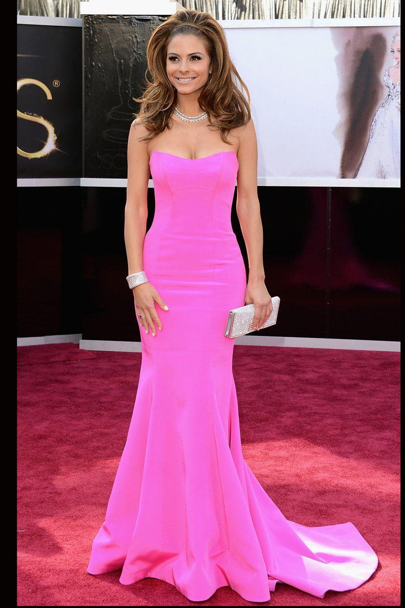 Oscars 2013: Maria Menounos vistiendo una hermosa tonalidad de rosa ...